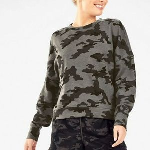 Fabletics Stacey Pullover in Mineral Camo